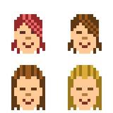 Illustration pixel art icon hairstyle man. Illustration vector isolate icon pixel art Royalty Free Illustration