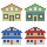 Illustration pixel art icon house Royalty Free Stock Photography