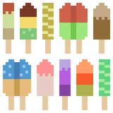 Illustration pixel art icon ice cream Royalty Free Stock Photos