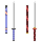 Illustration pixel art icon katana. Illustration vector isolate icon pixel art Vector Illustration