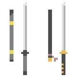 Illustration pixel art icon katana. Illustration vector isolate icon pixel art Royalty Free Illustration