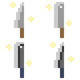 Illustration pixel art icon knife. Illustration isolate icon pixel art Royalty Free Illustration