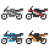 Illustration pixel art icon motorcycle Royalty Free Stock Images