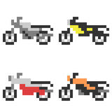 Illustration pixel art icon motorcycle Stock Photography