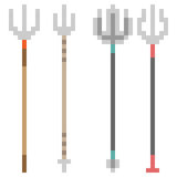 Illustration pixel art icon spear Royalty Free Stock Images