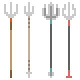 Illustration pixel art icon spear. Illustration vector isolate icon pixel art Royalty Free Illustration