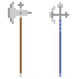 Illustration pixel art icon spear Royalty Free Stock Image