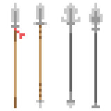 Illustration pixel art icon spear Royalty Free Stock Photography