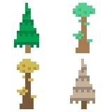Illustration pixel art icon tree. Illustration vector isolate icon pixel art Vector Illustration
