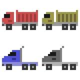 Illustration pixel art icon truck. Illustration vector isolate icon pixel art Stock Illustration
