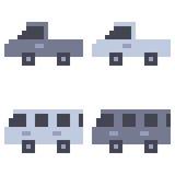 Illustration pixel art icon van. Illustration vector isolate icon pixel art Royalty Free Illustration