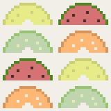Illustration pixel art icon. Illustration vector icon square rectangle pixel art Vector Illustration
