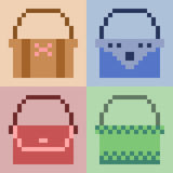 Illustration pixel art icon. Illustration vector icon square rectangle pixel art royalty free illustration