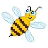 Illustration pixel bee. For design Royalty Free Stock Photography