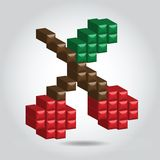 Illustration pixel cherry Royalty Free Stock Image