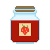 Illustration pixel jam. For design Stock Photo