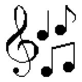 Illustration pixel music notes. For design Royalty Free Stock Images