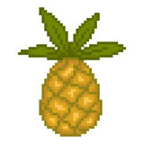 Illustration pixel pineapple. For design Royalty Free Stock Images