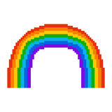 Illustration pixel rainbow. For design Royalty Free Stock Photography