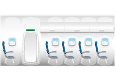 Illustration of plane - jet interior Royalty Free Stock Images