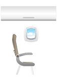 Illustration of plane - jet interior Royalty Free Stock Photo