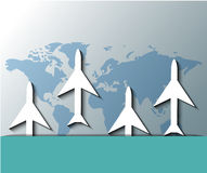 Illustration of planes flying Stock Image