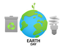 Illustration planet earth energy conservation and recycling. ECO Stock Image