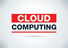 Illustration plate abstraite de conception de fond de Cloud Computing illustration stock