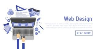 Illustration plate abstraite des concepts de web design et de développement Éléments pour le mobile et les applications Web Photographie stock libre de droits