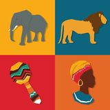 Illustration plate au sujet de conception de l'Afrique Images stock