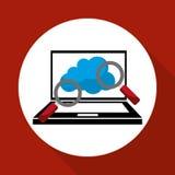 Illustration plate au sujet de système de sécurité Photo stock