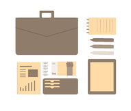 Illustration plate conceptuelle d'un homme d'affaires Image libre de droits