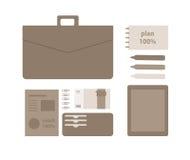 Illustration plate conceptuelle d'un homme d'affaires Photographie stock
