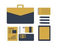 Illustration plate conceptuelle d'un homme d'affaires Image stock