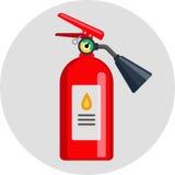 Illustration plate d'icône de couleur d'extincteur Photos libres de droits