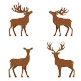 Illustration plate de cerfs communs Image libre de droits