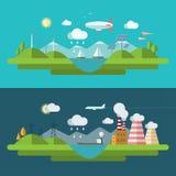Illustration plate de concept d'écologie de vecteur de conception illustration stock