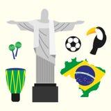 Illustration plate de conception de concept de voyage du Brésil Image stock