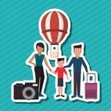 Illustration plate de conception de famille, icône de personnes Images libres de droits