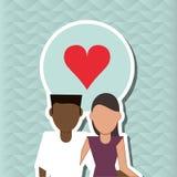 Illustration plate de conception de famille, icône de personnes Photos libres de droits
