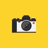 Illustration plate de conception de rétro de vintage d'appareil-photo icône de style Images libres de droits