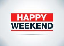 Illustration plate de conception de fond d'abrégé sur heureux week-end illustration stock