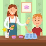 Illustration plate de cuisson de vecteur de couleur d'atelier illustration libre de droits