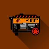 Illustration plate de générateur d'essence Photographie stock