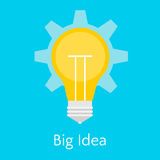 Illustration plate de grande idée Images stock