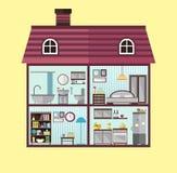 Illustration plate de maison dans la coupe illustration stock