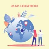 Illustration plate de planification de vecteur de vacances de couples illustration stock