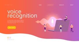 Illustration plate de reconnaissance vocale de vecteur illustration stock