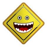 Illustration plate de signe heureux Photographie stock libre de droits