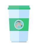 Illustration plate de style de laitages de chèvre Image libre de droits